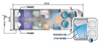 Ci SINFONIA BASCULANTES SINFONIA 85 XT - Plano - Distribución