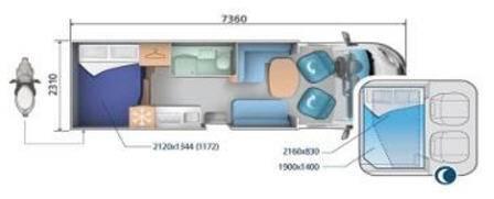 Ci SINFONIA BASCULANTES SINFONIA 98 XT - Plano - Distribución