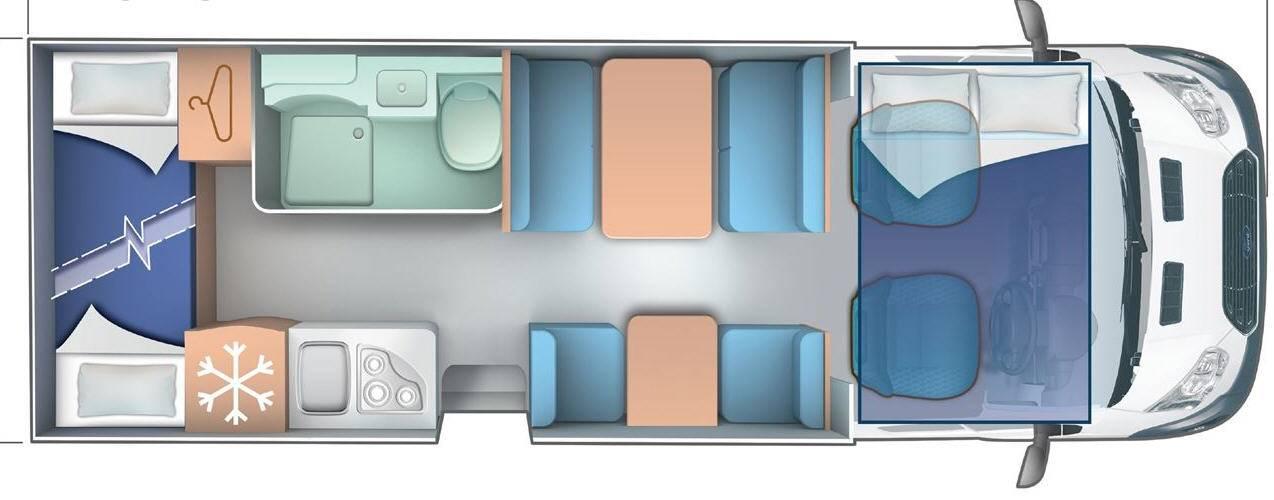 Ci Elliot/Autoroller EL 77/ AR 277 - Plano - Distribución