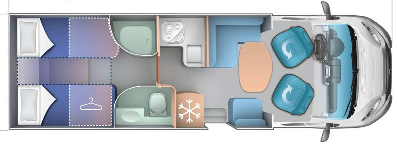 Ci Riviera/Granduca R 85 / G285 - Plano - Distribución