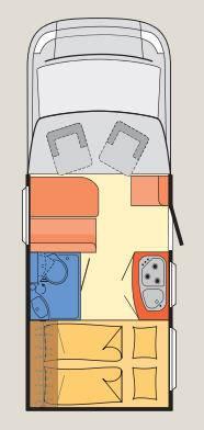 Dethleffs Globebus T - 1 - Plano - Distribución