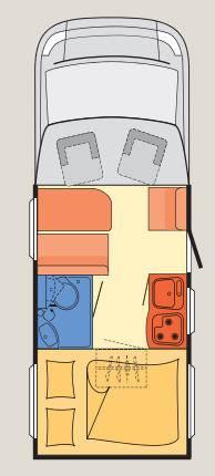 Dethleffs Globebus T - 11 - Plano - Distribución
