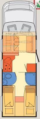 Dethleffs Globe 4 T T-7151-EB - Plano - Distribución