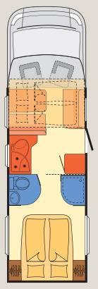 Dethleffs Magic Edition Globe 4 T-7157 T-7151-White - Plano - Distribución