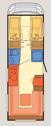 Dethleffs Esprit Comfort A / T / I A - 6820-2 - Plano - Distribución