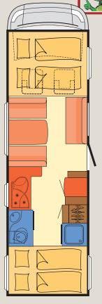Dethleffs Esprit Comfort A / T / I A - 7870-2 - Plano - Distribución