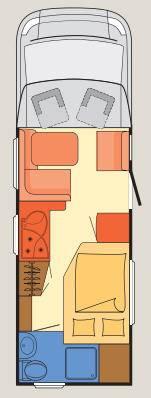 Dethleffs Esprit Comfort A / T / I T-7090-2 - Plano - Distribución