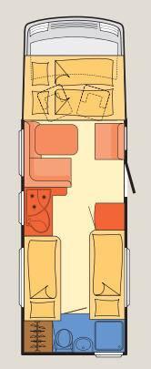 Dethleffs Esprit Comfort A / T / I I-7010-2 - Plano - Distribución