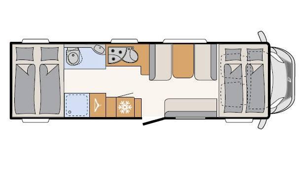Dethleffs Espri A Comfort A 7870-3 - Plano - Distribución