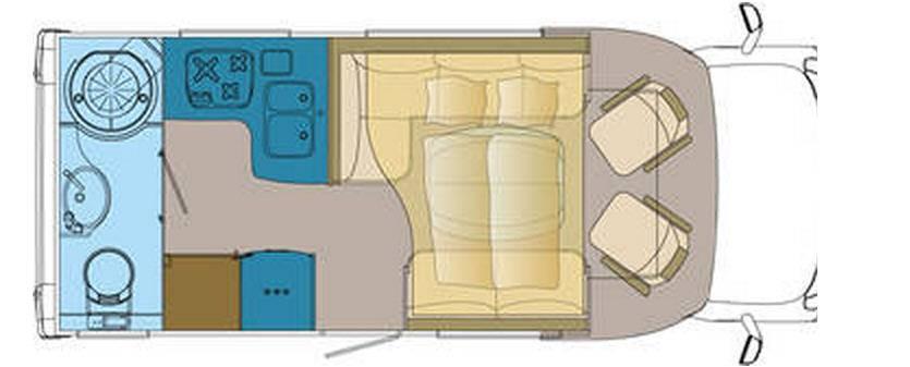 Frankia MERCEDES SPRINTER T 6400 SD-B - Plano - Distribución