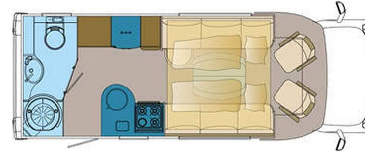 Frankia MERCEDES SPRINTER T 6800 SD-B - Plano - Distribución