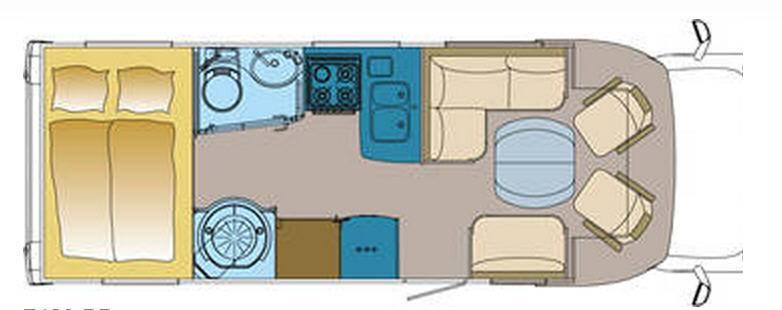 Frankia MERCEDES SPRINTER T 7400 - Plano - Distribución