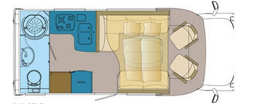 Frankia FIAT DUCATO T 640 SD-B - Plano - Distribución
