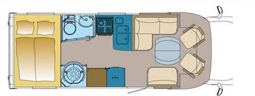 Frankia FIAT DUCATO T 740 - Plano - Distribución