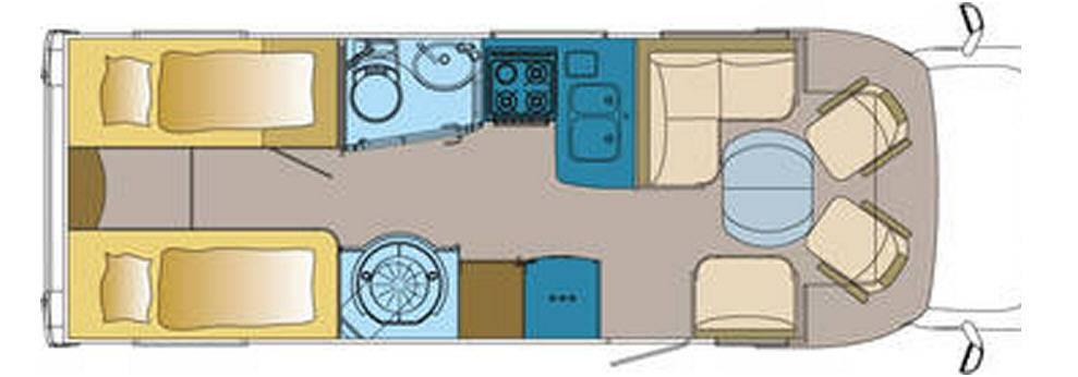Frankia FIAT DUCATO T 790 - Plano - Distribución