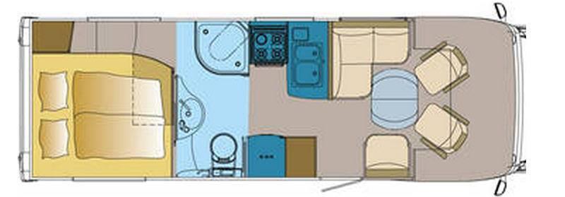 Frankia FIAT DUCATO A 790 - Plano - Distribución