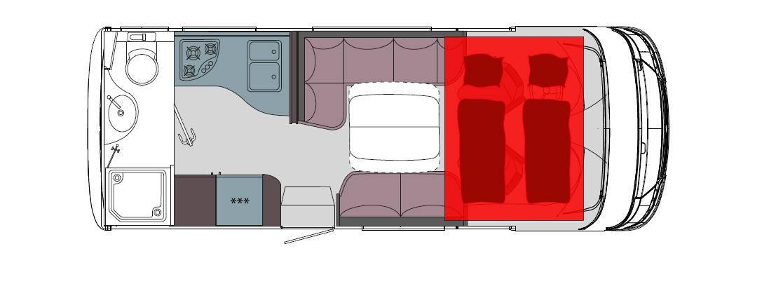 Frankia Mercedes Srpinter I 6400 SD - Plano - Distribución