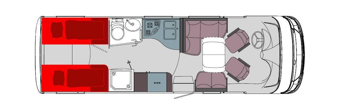 Frankia Mercedes Srpinter I 7900 BD/GD/QD - Plano - Distribución