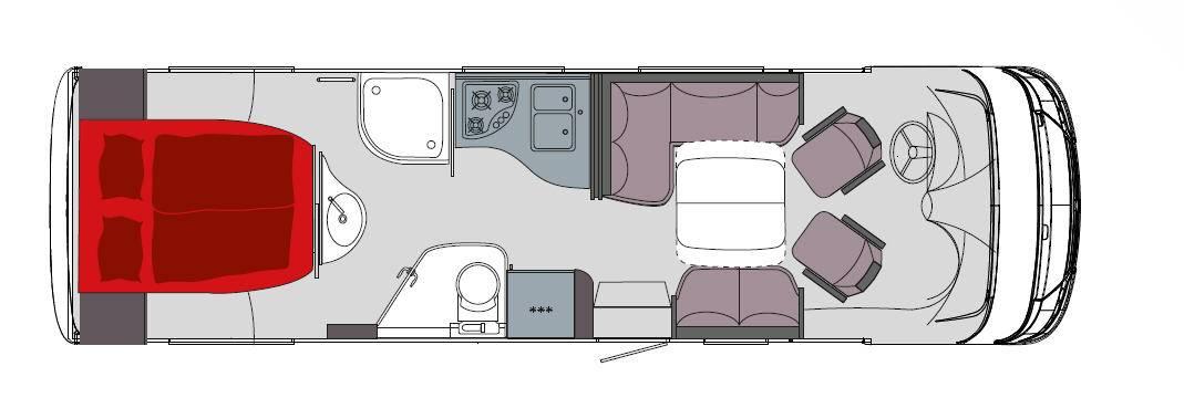 Frankia Mercedes Srpinter I8400 BD/GD/QD/FD - Plano - Distribución
