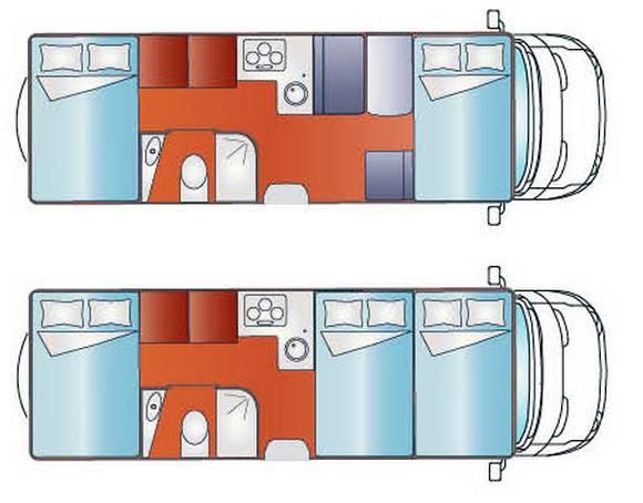 Giottiline CAPUCHINO S 45 - Plano - Distribución