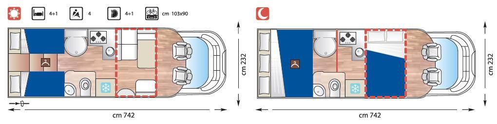 Giottiline Therry Perfilado T 37 B - Plano - Distribución