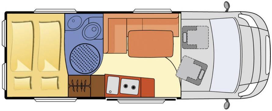Globecar D-Line FAMILYSCOUT  L MAXI - Plano - Distribución