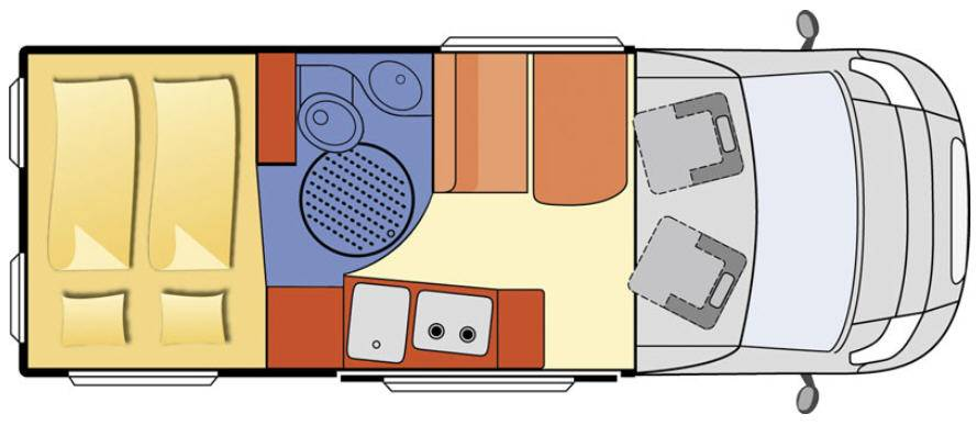 Globecar D-Line GLOBESCOUT STYLE - Plano - Distribución