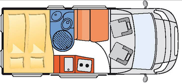 Globecar D-Line ROADSCOUT R - Plano - Distribución