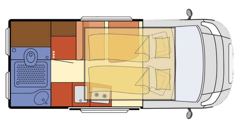 Globecar H-Line GLOBECAR VARIO 499 - Plano - Distribución
