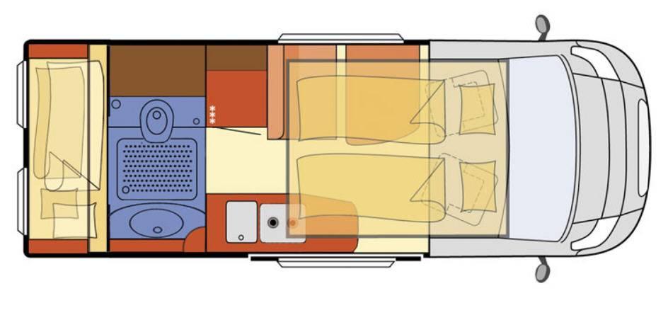 Globecar H-Line GLOBECAR VARIO 545 - Plano - Distribución