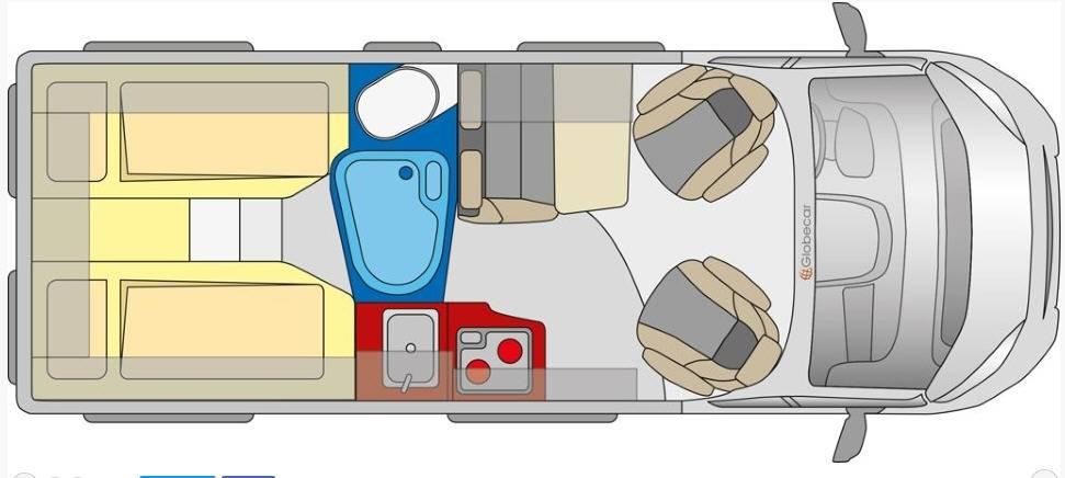 Globecar D-LINE Globestar 600 L - Plano - Distribución