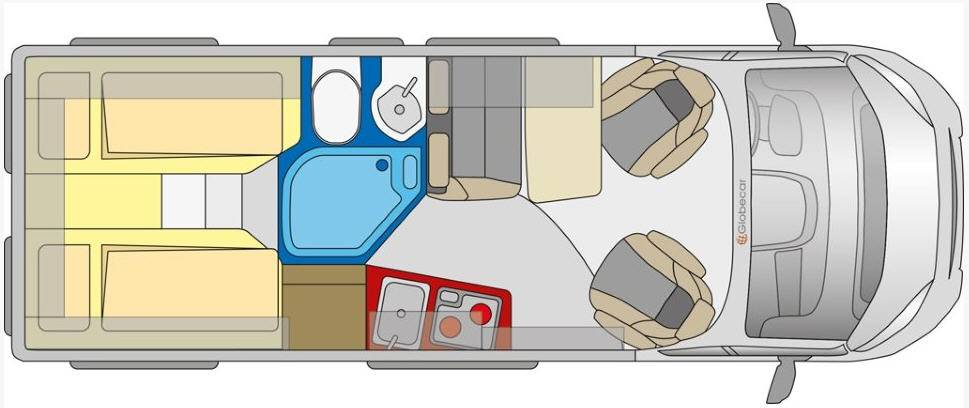 Globecar D-LINE Campscout (Maxi) - Plano - Distribución