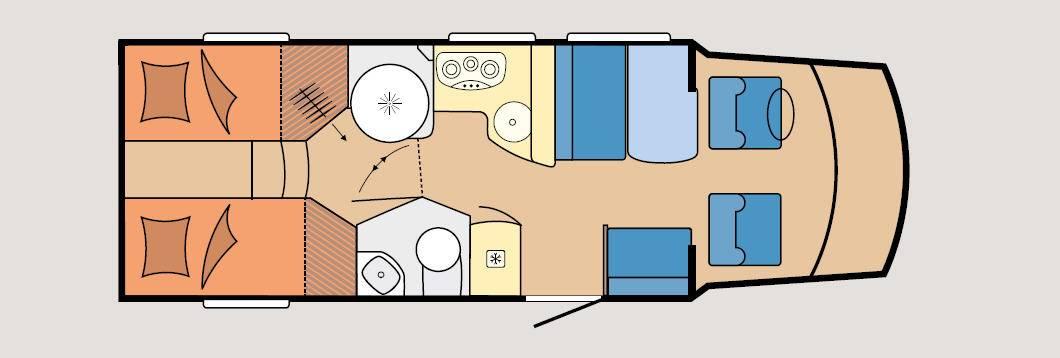 Hobby Optima T 70 GE Luxe - Plano - Distribución