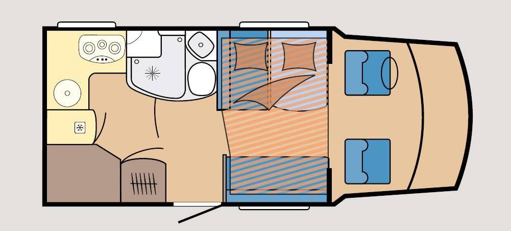 Hobby Optima T 60 H Luxe - Plano - Distribución