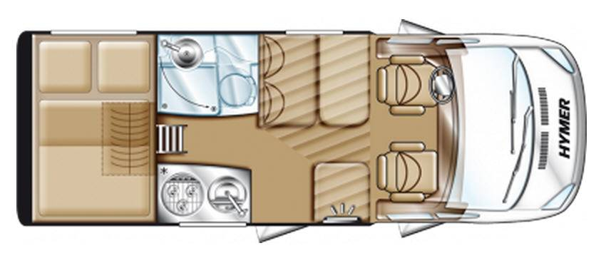 Hymer Van V 512 - Plano - Distribución