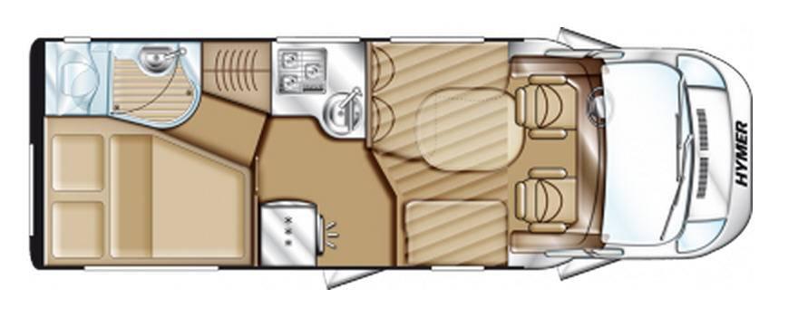 Hymer Tramp CL T 554 CL ALKO - Plano - Distribución