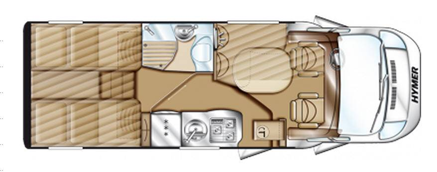 Hymer Tramp CL T 578 CL ALKO - Plano - Distribución