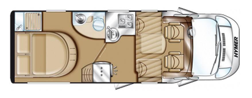 Hymer Tramp CL T 598 CL ALKO - Plano - Distribución
