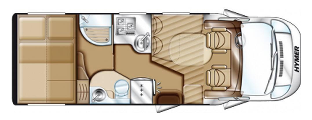 Hymer Tramp T 594 PR 50 - Plano - Distribución