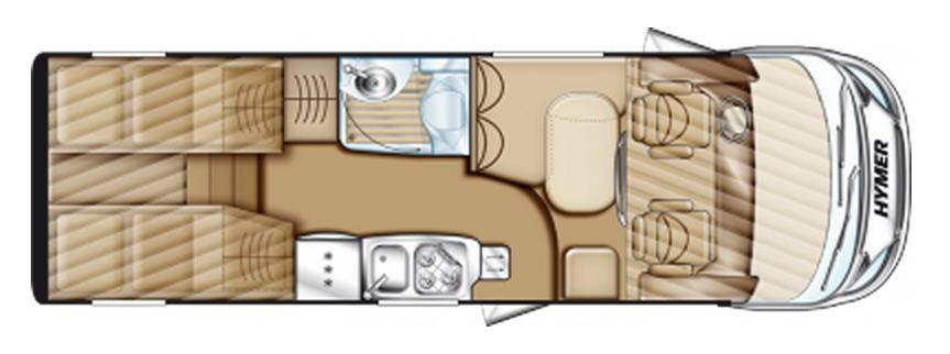Hymer Exsis Fiat Ex 674 - Plano - Distribución