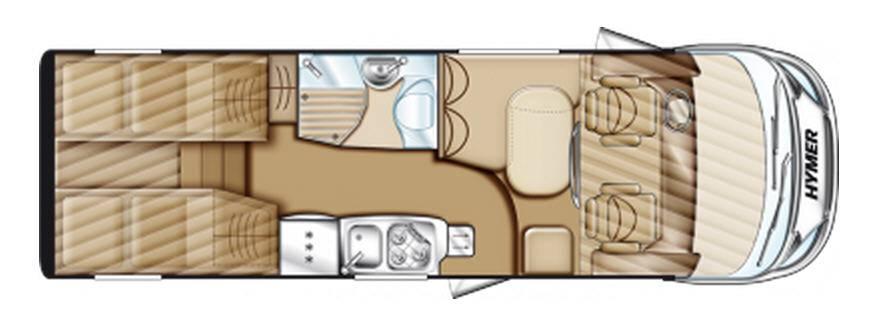 Hymer Exsis Fiat Ex 678 - Plano - Distribución
