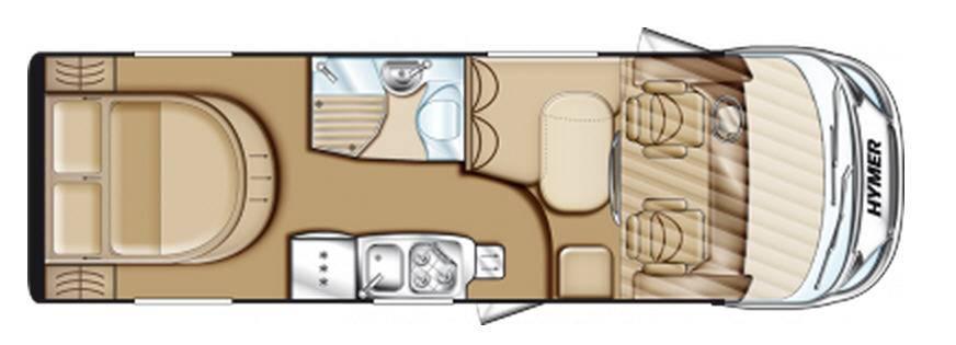 Hymer Exsis Fiat Ex 698 - Plano - Distribución