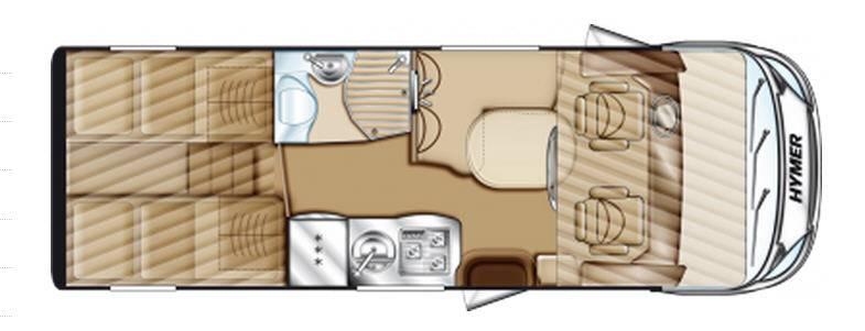 Hymer Star Line B 580 - Plano - Distribución