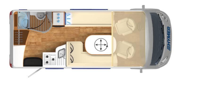 Hymer B Premium Line B544PL - Plano - Distribución