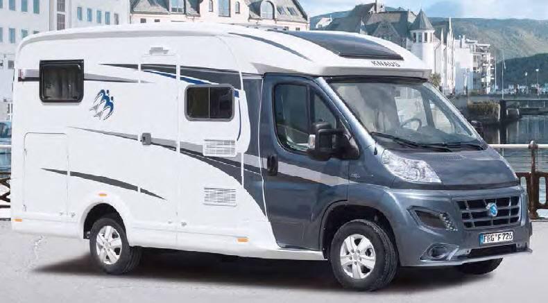 Exterior del modelo Knaus Van Ti 550 Md
