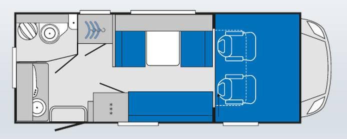 Knaus Sky Traveller 600 D - Plano - Distribución