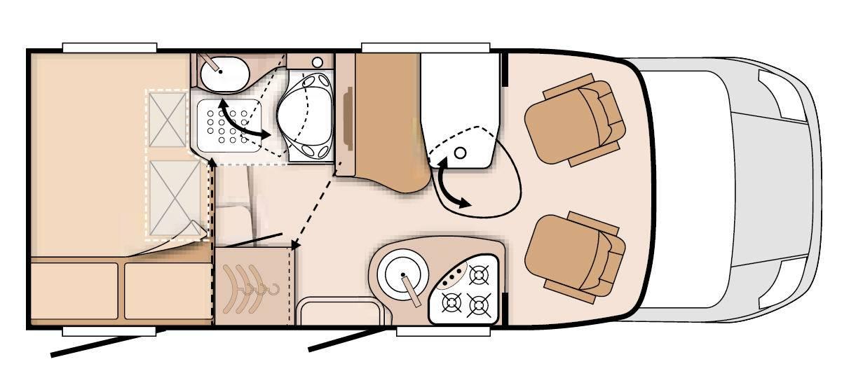 Knaus Van Ti 550 MD - Plano - Distribución