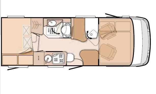 Knaus Van I 600 ME - Plano - Distribución