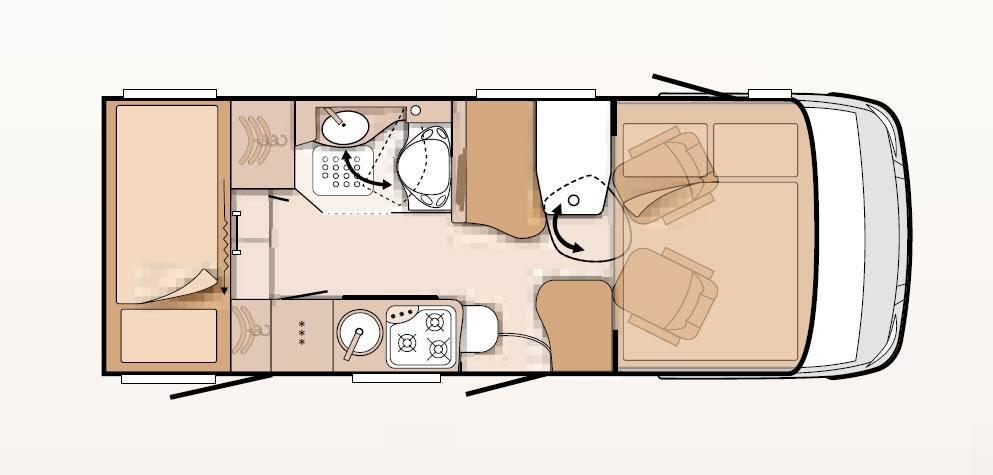 Knaus Van I Van I 580 MK - Plano - Distribución