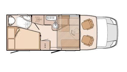 Knaus SkyWave 650 MF - Plano - Distribución